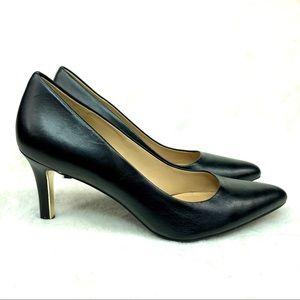 Naturalizer Whitney Contour Leather Black Heels
